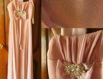 Βραδινό γαμήλιο φόρεμα maxi crepe σιφόν
