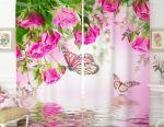 Фотошторы Бабочки у воды(новые)