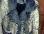 Куртка жіноча теляча шкіра хутро норка