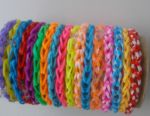 Thin handmade bracelets made of rubber bands 10