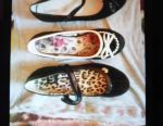 Pantofi negri noi 35 (în mijloc) și 36 p. Prin bo.