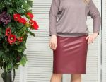 Skirt leather