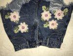 Pantaloni din denim cu flori