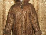 Sheepskin coat for a girl