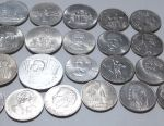 Anniversary rubles of the USSR in assortment