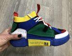 Разноцветные женские кроссовки с носочком 36,37,38