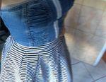 Denim corset