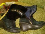 Boots natural fur