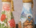 Decoupage vases