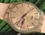 Watch swatch silicone beige