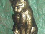 Cat metal sculpture