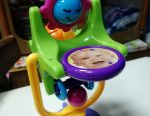 Pinwheel carousel on a suction cup