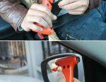 Car emergency hammer with blade