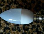 LED bec 3 W, bază E27, lumânare