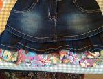 Denim skirt for height 128