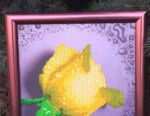 Handwork. Yellow rose