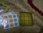 Children's magnetic game toy tic tac toe