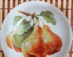 Два фарфоровых блюдца , ручная роспись , очень ста