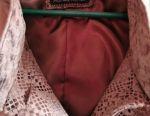Women's leather cloak