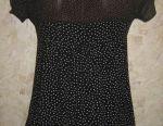 Polka noktalı hafif bluz, s.44