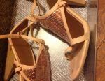 Sandals summer natur leather