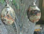 Серьги из  натурального камня Яшма.