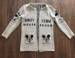 Cardigan gri cu Mickey cald