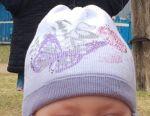 Cap για ένα κορίτσι 1-2,5 ετών