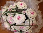 Wedding bridal bouquet of artificial flowers