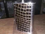 Flask with a new leather insert