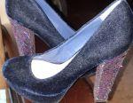 Velvet shoes, very beautiful