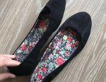 Suede ballet shoes