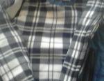 Μπλε γιλέκο με κουκούλα