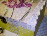 Casket decoupage gift needlework style interior