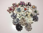 Handmade shell brooches