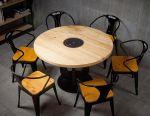 Круглый деревянный стол для китайского самовара