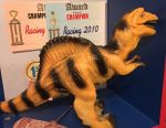 Dinosaur on the remote control