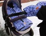 Envelope and clutch on a stroller
