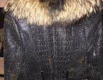 Short sheepskin coat