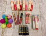 Glitters, lipsticks, balms, tints for lips