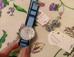 Set yeni saat + küpeler gümüş