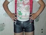 Shorts with suspenders for 4-5 years