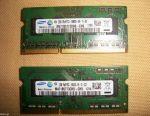 Dizüstü bilgisayar için 4 adet 2GB RAM DDR3 204pin