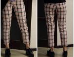 Stylish classic trousers in a cage