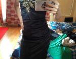 Evening prom satin dress