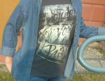 ? Denim shirt for girls, at 152 cm