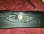 Μαύρη τσάντα συμπλέκτη