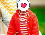 Πλεκτό πουλόβερ για κορίτσι 74-80