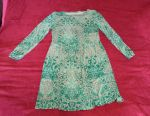 A nice green dress with a pattern