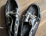 Boggi moccasins nat leather 38 rr